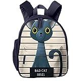 Bolsa La Escuela Mochila con Alineación de policías Arcángel Gato Azul Ruso para Impermeable Mochilas para Niños Niñas