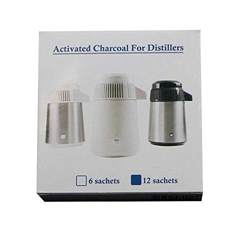 12x Euronda Aktivkohlefilter Aquadist Wasser-Filter Kohlefilter, f. Wasser-Destilliergerät Aquadist 2G