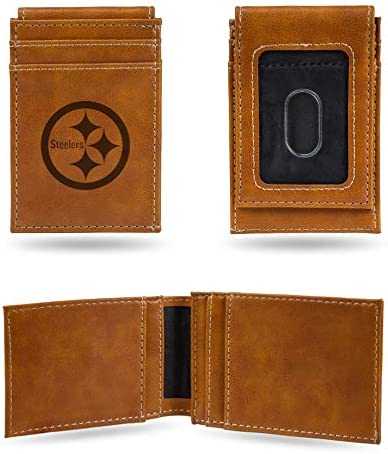 NFL Rico Industries Laser Engraved Front Pocket Wallet Pittsburgh Steelers product image