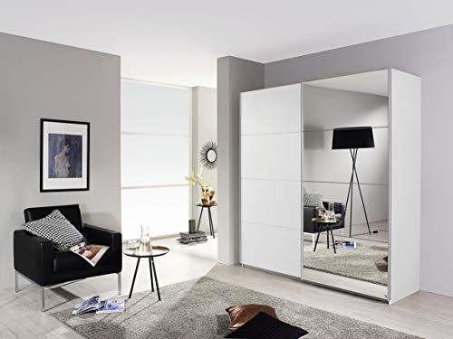 Rauch Armadio a 2 Ante scorrevoli, Bianco Alpino, con Specchio, 181 x 197 x 61 cm (L x A x P)