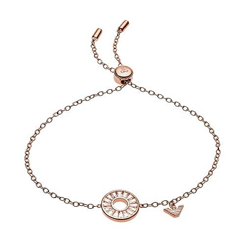 Emporio Armani EG3458221 - Pulsera para mujer con nombre en plata de ley, color oro rosa