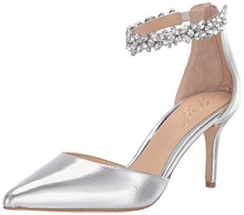 Jewel Badgley Mischka Women's RALEIGH Shoe, Silver Metallic, 6 M US