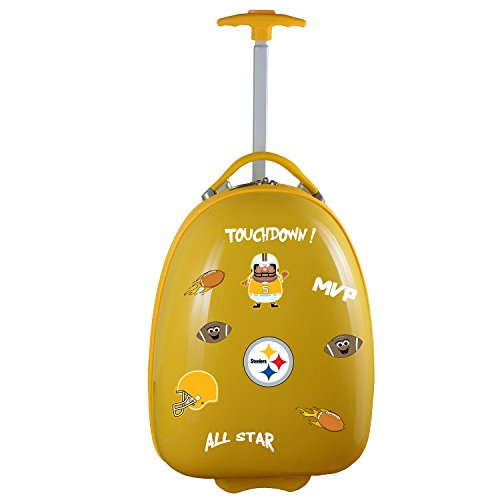 Denco NFL Pittsburgh Steelers Kids Lil' Adventurer Luggage Pod, 18-inches, Yellow
