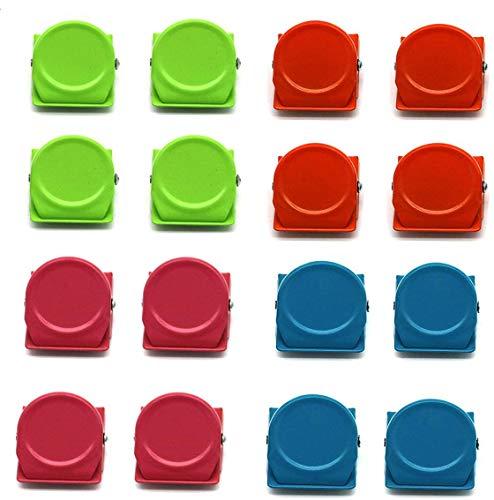 16 Stücke Magnet Klammer, Kühlschrank Magnete für Magnettafel Magnetclips Haken Magnet Klammer Kühlschrank Magnetisch Clips für Zuhause/Büro/Schule Foto Displays und Dekoration, Vier Farben