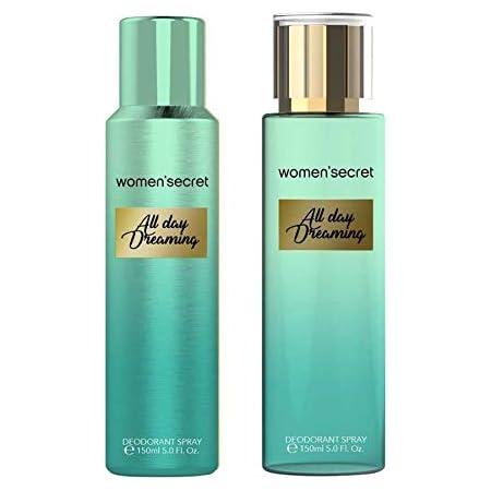 Women's secret All Day Dreaming Body Mist and Deodorant Combo for Women -150ml - Pack of 2