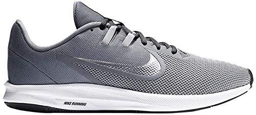 Nike Zapatillas de correr para hombre Downshifter 9, Cool Grey Metallic Silver, 42.5 EU