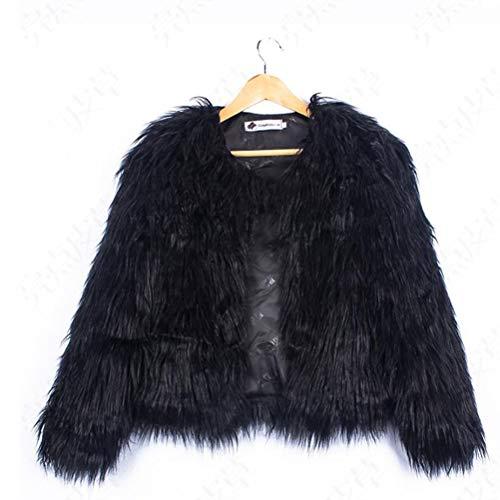 Winter Furry Outwear Capa de piel sintética del cabo para mujer Abrigo...