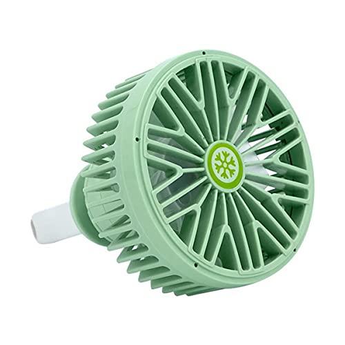 GvvcH Ventilatore Auto Dispositivo di Raffreddamento dell'Aria per Auto USB Multifunzionale Insieme a 3 modalità di Regolazione del Vento/Luce Romantica a LED Accessori per Auto,Green