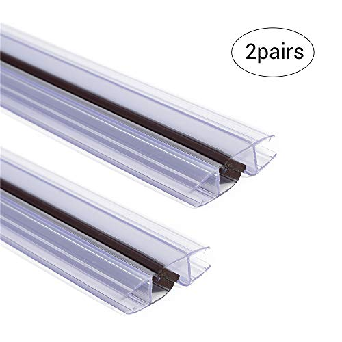 """2 Pairs of 78"""" Magnetic Shower Door Side Seal 