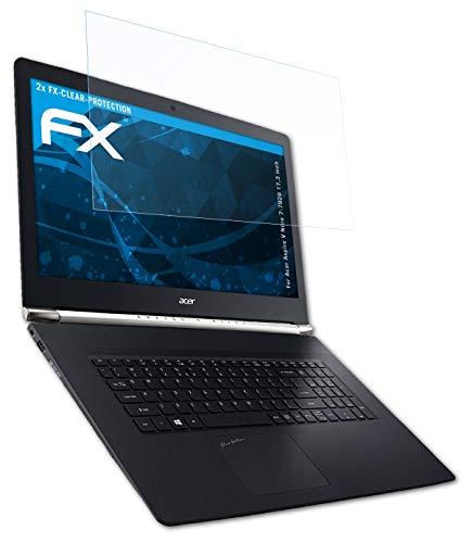 atFolix Schutzfolie kompatibel mit Acer Aspire V Nitro 7-792G 17,3 inch Folie, ultraklare FX Bildschirmschutzfolie (2X)