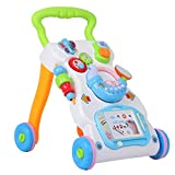 Lauflernhilfen, Kinder Lauflernwagen Laufwagen Babyspielzeug Pädagogisches Spielwagen mit Abnehmbar...