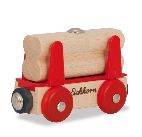 Eichhorn - 100001358 - Wagon de train avec la charge de bois - 2 pièces
