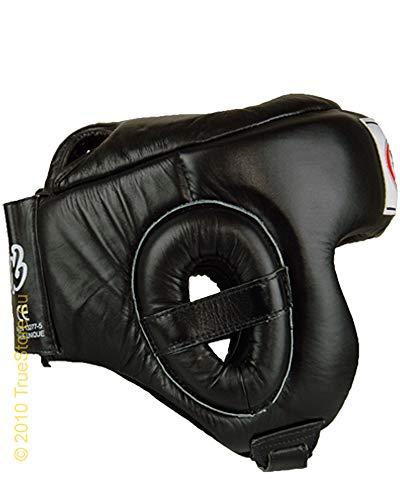 Fairtex Muay Thai Stile Wettkampf Protezione per la Testa HG6, Nero, XL