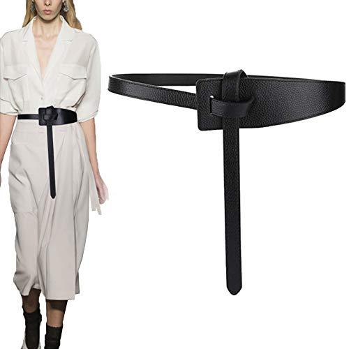 Longwu Mujer Cinturón de cuero de piel de vaca genuino Atar un...