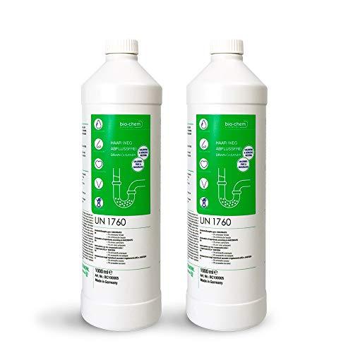 bio-chem Haar-weg Abfluss-Frei Sparpack 2x1000 ml Abflussreiniger Rohrreiniger