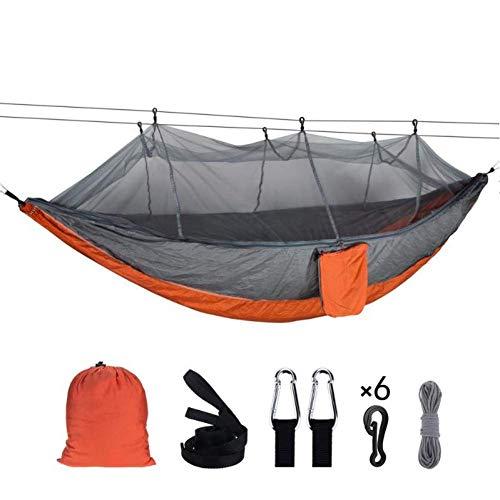 ZXL Hangmat Grote outdoor muggennet parachute hangmat 1-2 personen opknoping slaapbank voor camping backpacking strand 260x140 CM D
