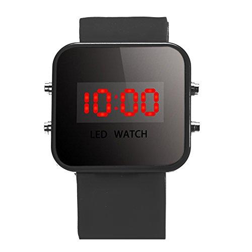 YouN Junge Mädchen Uhren Mode Luxus Silikon LED Digital Sport Uhr Armbanduhr, Schwarz, 280.00*60.00*15.00mm