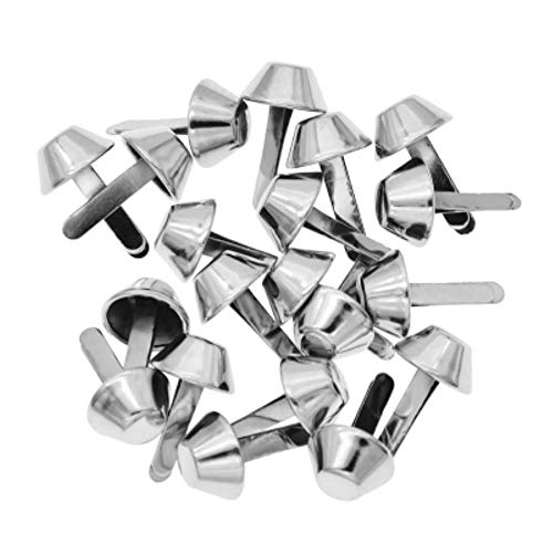 20 remaches de metal para bolsa de mano, accesorios de decoración, color plateado