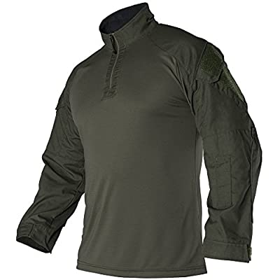 Vertx Men's Large Recon Combat Long Sleeves Shirt, Olive Drab Green