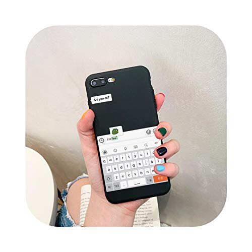 Carcasa para Huawei Mate 30 – Carcasa divertida Meme are u Ok para Huawei P 20 P 30 Lite Mate 30 20 Pro P Smart Honor 8X 9X 10i 7A Y9 Flexible Transparente - KL57-Black-For Huawei Y9 2018