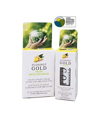 FLOSSPOT Gold Floss Refill 50m 2 Count, 2 CT