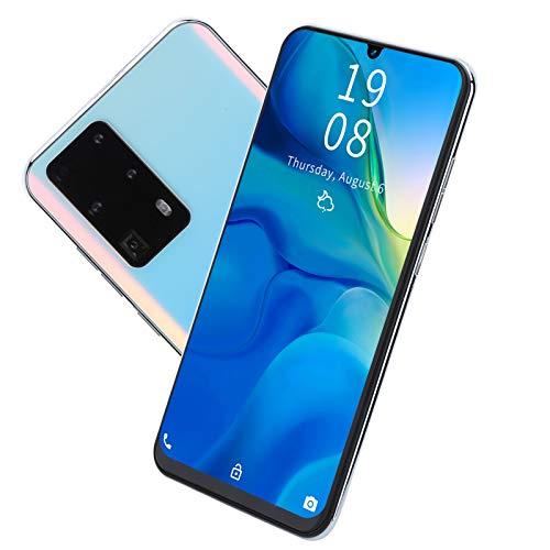 Dpofirs Smartphone 3G Desbloqueado de 7.2 Pulgadas, teléfono móvil Barato P40 Pro + Android 5.1, teléfono móvil de 3,5 mm/Type-C, CPU de Cuatro núcleos, Tarjeta Dual de 1 GB + 16 GB(Blanco)