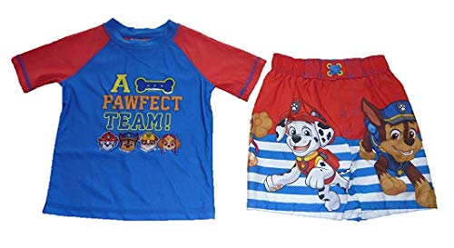 Dreamwave Toddler Paw Patrol Swim Trunks & Rash Guard Shirt Set UPF 50+ Sun Protection (6)