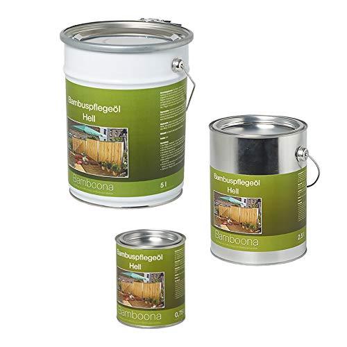 (49,20 €/L) Bambus-Pflegeöl hell - Hochwertiges Ölharz für Zäune, Rohre & Terrassendielen 0,75 Liter