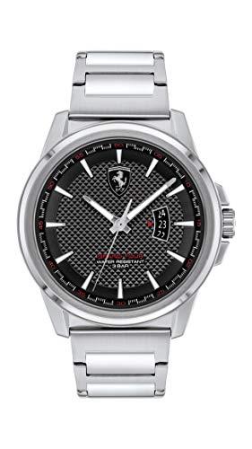 Scuderia Ferrari Reloj Cosa análoga para de los Hombres de Cuarzo con Correa en Acero Inoxidable 830834