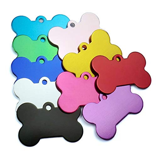 AEAP Wholesale 100Pcs Personalized Bone Dog ID Tags Customized Cat Puppy Name Phone Pet ID Tags Dog Cat Pet Tag Collar Accessories