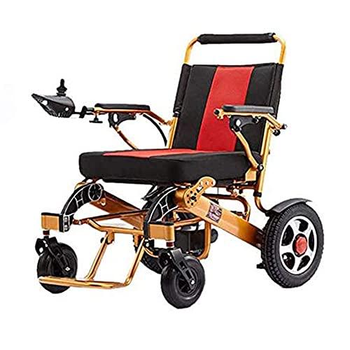 YIQIFEI Rollstuhl Leichter, Faltbarer elektrischer kompakter Elektrorollstuhlantrieb aus Aluminium mit Elektroantrieb oder manuell (Stuhl)