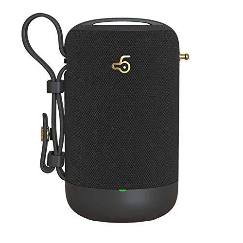 RRQS draadloze Bluetooth handsfree computer subwoofer auto buiten creatieve waterdichte Carry Card Audio Hd Audio, zwart
