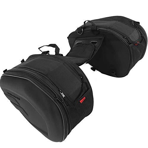 1 Paar Motorradtaschen, 2 Stück, Motorrad-Satteltaschen aus Oxford-Stoff, wasserabweisend, Seitliche Tasche, halbstarr, Schwarz, abnehmbar für Einzelne Objekte, Größe: 470 x 295 x 230 mm