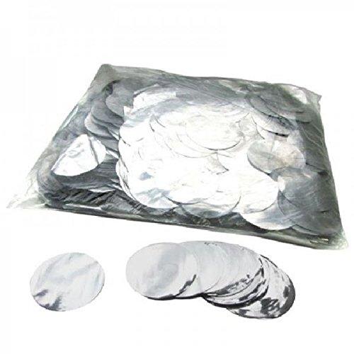 Mondial-fete - 100 gr confettis magnétiques ronds argent 5 cm