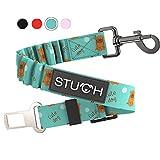 STUCH ® Universeller Bungee Sicherheitsgurt für Hunde & Katzen - Passend für alle Hunderassen & Autotypen (Türkis)