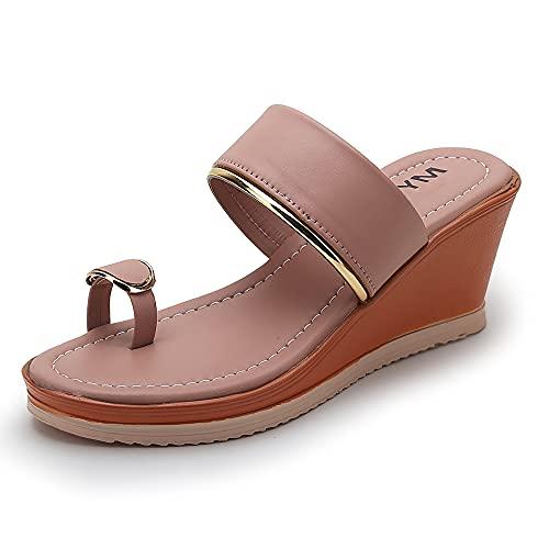 Myra Women's Toe-ring Ankle Strap Heel Wedges – MS1183C