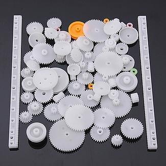 YUNIQUE FRANCE 75 Pieces Pack Different robotique (kit 75 Gear)