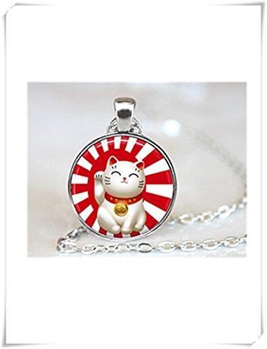 Halskette mit asiatischer Katze, traditionelles asiatisches Design, süßer...