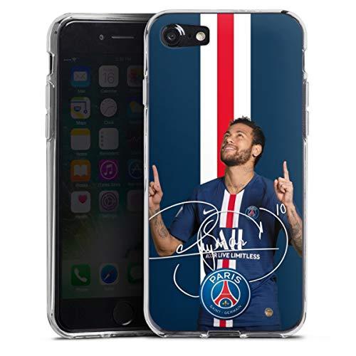 DeinDesign Silikon Hülle kompatibel mit Apple iPhone SE (2020) Case transparent Handyhülle Fußballer Frankreich Fußball
