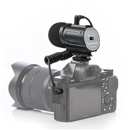 Saramonic SR-PMIC2 Micrófono de Video con Condensador, Mini cámara, micrófono de entrevista...