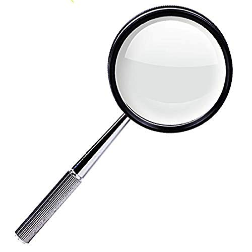 FSJIANGYUE Magnifier Glass Handheld Magnifier for Reading, Inspection, Hobbies & Crafts (Color : -,...