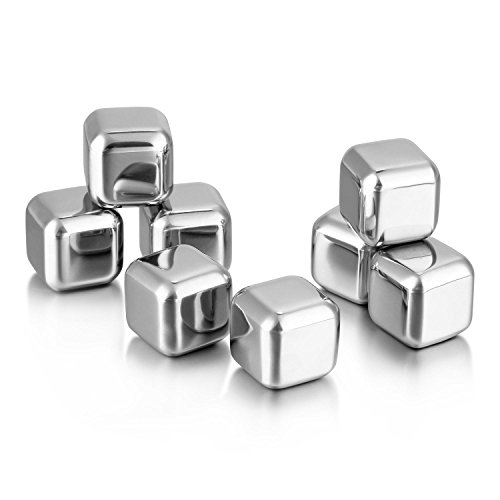 Cubitos de hielo Soledi 8PCS Enfriadores Metálicos de Acero Inoxidable , para...