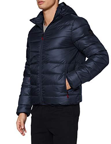 Kaporal - Doudoune régular Homme avec Capuche en 100% Polyester recyclé - Bilor - Homme - XL - Bleu