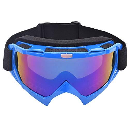Miotlsy Motocross Vidrios a Prueba de Viento UV Goggle Gafas para el Polvo, Resistentes al Viento para Esquí, Patinaje, Escalada, Camping, Carreras, Gafas para el Polvo, Resistentes al Viento