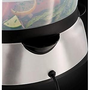 Russell Hobbs Dampfgarer Digital 10,5l (digitales Display + programmierbarer Timer), 3 spülmaschinengeeignete Dampfgarbehälter + Reisschale + 8 Eierhalter, BPA-frei, Dampfkocher MaxiCook 23560-56