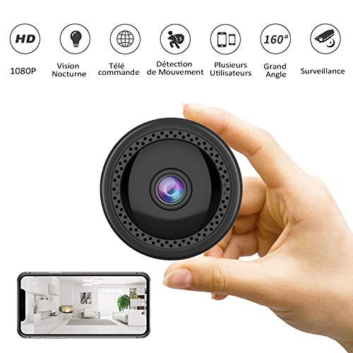 Mini Cámaras - CUSFLYX WiFi HD Cámara Detección de Movimiento IR Visión Nocturna 1080P/720/640P/320P Cámara Niñera de Seguridad para el Hogar 160 Grados Gran Angular para iOS/Android