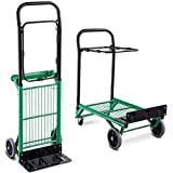 COSTWAY Folding Hand Truck with Height Adjustable, Heavy Duty Steel, 90kg Capacity, Portable