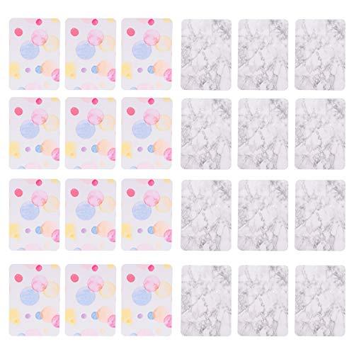 EXCEART 200 Piezas de Tarjetero para Pendientes Tarjeta de Exhibición de Joyería en Blanco Colorida Etiqueta de Papel Colgante Tarjetas de Joyería para DIY Pendientes Collar de Embalaje