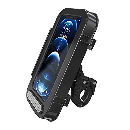 Soporte para teléfono para motocicleta a prueba de agua - Soporte para teléfono para bicicleta - Soporte para teléfono - Soportes antivibración sensibles a la pantalla táctil con rotación 360 para mot