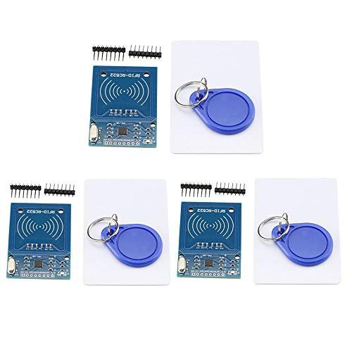 VKLSVAN 3個セット RFIDモジュール FRC RC522 MFRC522 IC カード リーダー モジュール+ S50 非接触ICタグ + カードキー Mifare